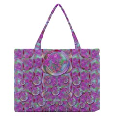 Paradise Of Wonderful Flowers In Eden Medium Zipper Tote Bag