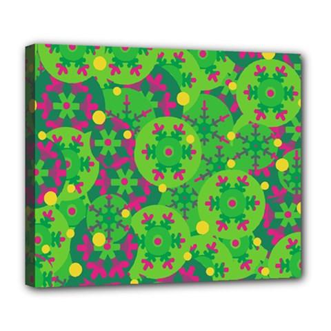 Christmas decor - green Deluxe Canvas 24  x 20