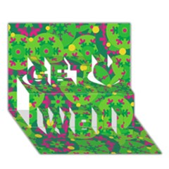 Christmas decor - green Get Well 3D Greeting Card (7x5)