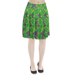 Christmas decor - green Pleated Skirt