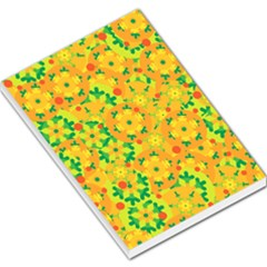 Christmas decor - yellow Large Memo Pads