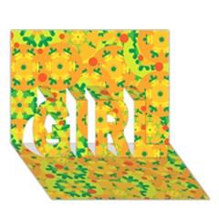 Christmas decor - yellow GIRL 3D Greeting Card (7x5)