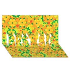 Christmas decor - yellow BEST SIS 3D Greeting Card (8x4)