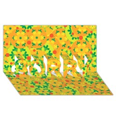 Christmas decor - yellow SORRY 3D Greeting Card (8x4)