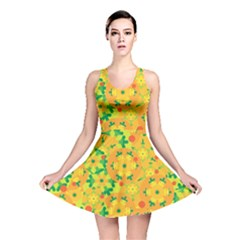 Christmas decor - yellow Reversible Skater Dress