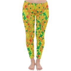 Christmas decor - yellow Winter Leggings