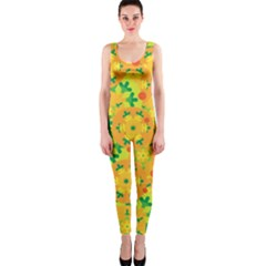 Christmas decor - yellow OnePiece Catsuit