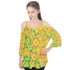 Christmas decor - yellow Flutter Tees