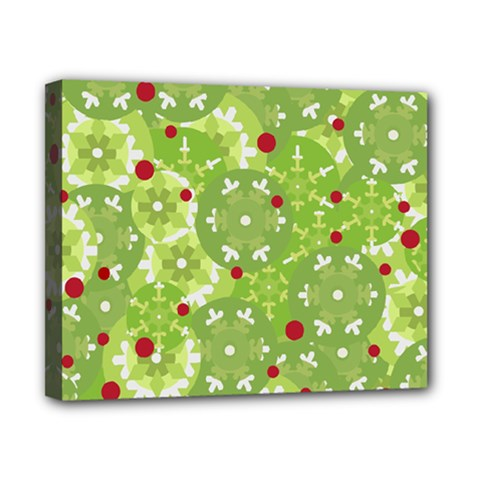 Green Christmas decor Canvas 10  x 8