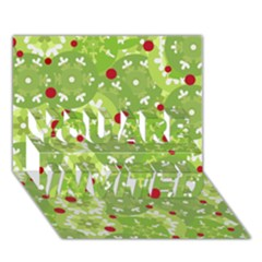 Green Christmas decor YOU ARE INVITED 3D Greeting Card (7x5)