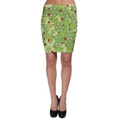 Green Christmas decor Bodycon Skirt