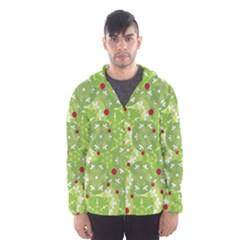 Green Christmas decor Hooded Wind Breaker (Men)
