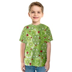 Green Christmas decor Kid s Sport Mesh Tee