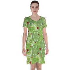 Green Christmas decor Short Sleeve Nightdress
