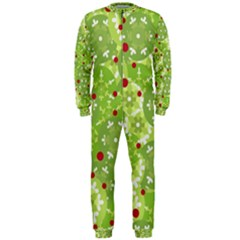 Green Christmas decor OnePiece Jumpsuit (Men)