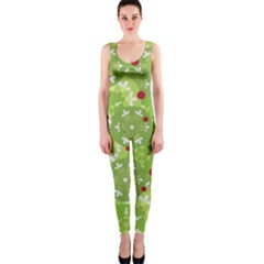 Green Christmas decor OnePiece Catsuit