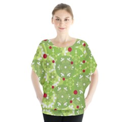 Green Christmas decor Blouse