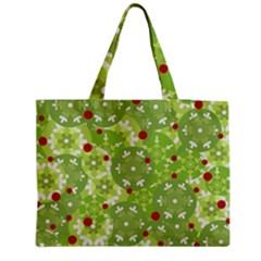 Green Christmas Decor Medium Tote Bag