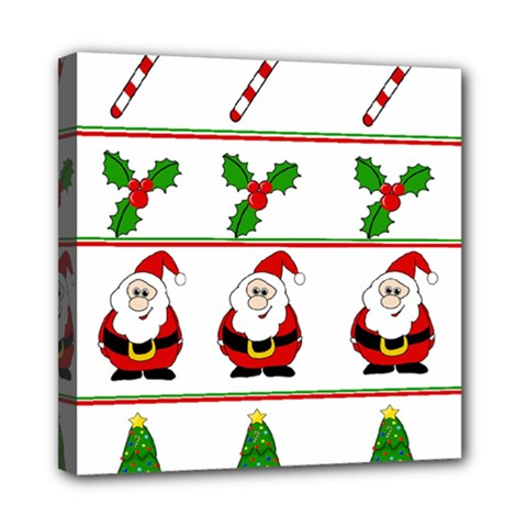 Christmas pattern Mini Canvas 8  x 8