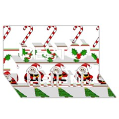 Christmas pattern Best Friends 3D Greeting Card (8x4)