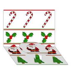 Christmas pattern Circle Bottom 3D Greeting Card (7x5)