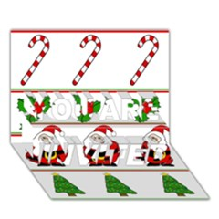 Christmas pattern YOU ARE INVITED 3D Greeting Card (7x5)