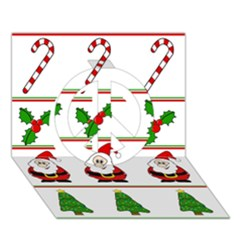 Christmas pattern Peace Sign 3D Greeting Card (7x5)