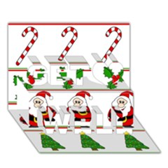 Christmas pattern Get Well 3D Greeting Card (7x5)