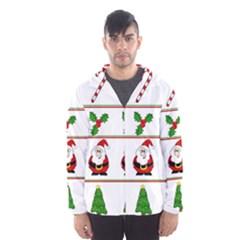 Christmas pattern Hooded Wind Breaker (Men)