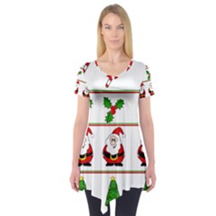 Christmas pattern Short Sleeve Tunic