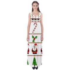 Christmas pattern Empire Waist Maxi Dress