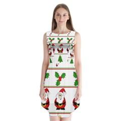 Christmas pattern Sleeveless Chiffon Dress