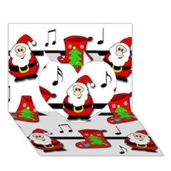 Christmas song Heart 3D Greeting Card (7x5)