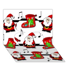 Christmas song Clover 3D Greeting Card (7x5)