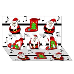 Christmas song #1 MOM 3D Greeting Cards (8x4)