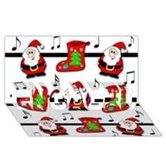 Christmas song ENGAGED 3D Greeting Card (8x4)