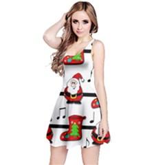 Christmas song Reversible Sleeveless Dress