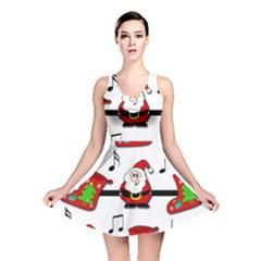 Christmas song Reversible Skater Dress