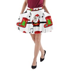 Christmas song A-Line Pocket Skirt