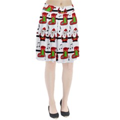 Christmas song Pleated Skirt