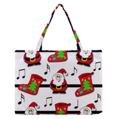 Christmas Song Medium Zipper Tote Bag