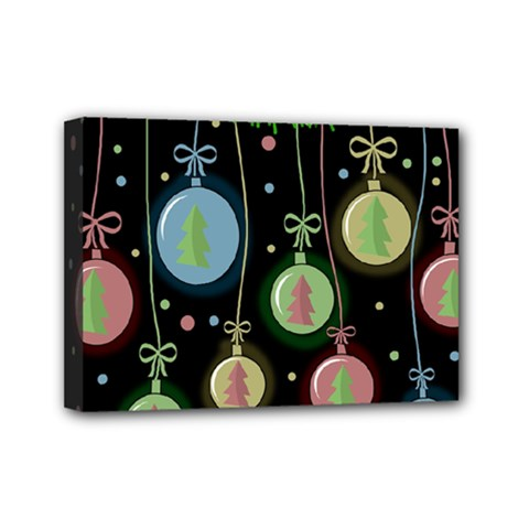 Christmas balls - pastel Mini Canvas 7  x 5