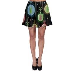 Christmas balls - pastel Skater Skirt