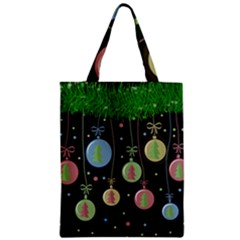 Christmas balls - pastel Zipper Classic Tote Bag