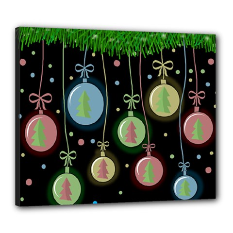 Christmas balls - pastel Canvas 24  x 20