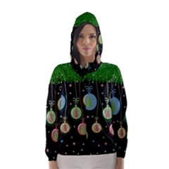 Christmas balls - pastel Hooded Wind Breaker (Women)