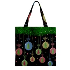 Christmas balls - pastel Zipper Grocery Tote Bag