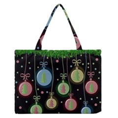 Christmas balls - pastel Medium Zipper Tote Bag