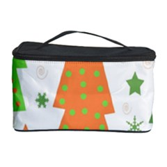 Christmas design - green and orange Cosmetic Storage Case