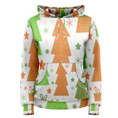 Christmas design - green and orange Women s Pullover Hoodie
